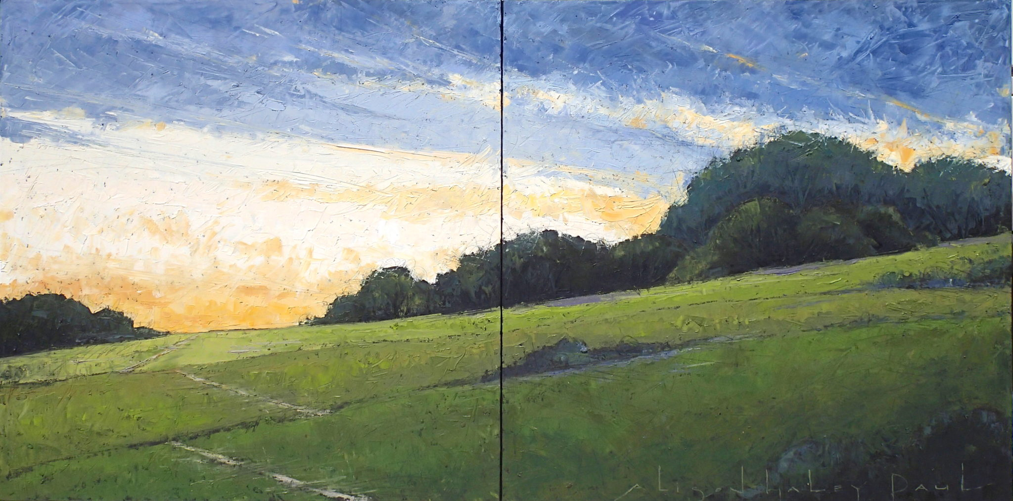 Beginnings 30x60 Diptych