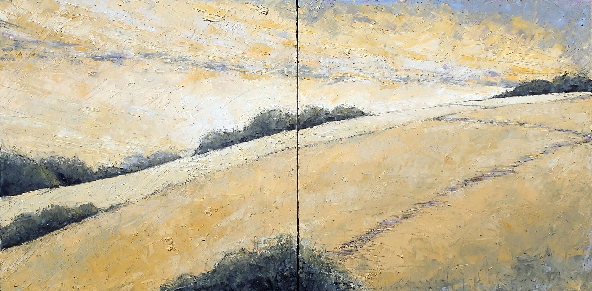 Zigzag 36x72 Diptych