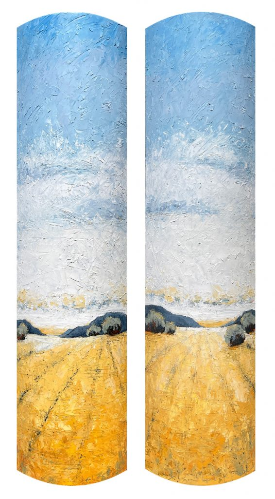 Pastoral I and-Pastoral II 72x18 5x5 Pair
