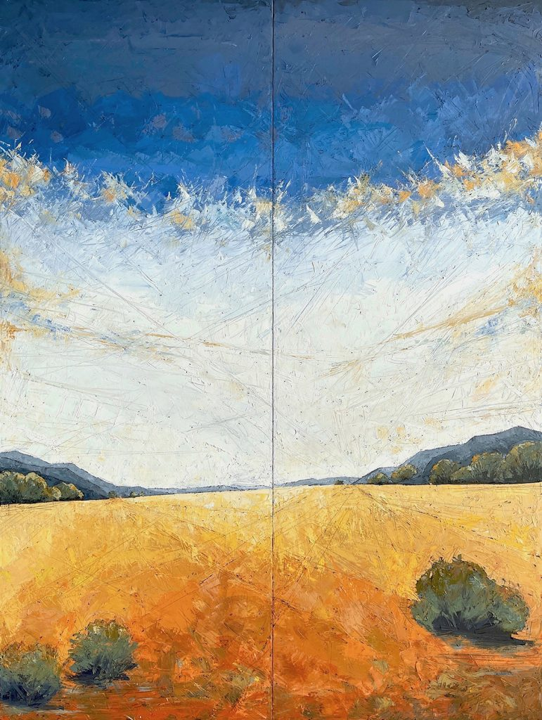 Perspective 80x60 Diptych